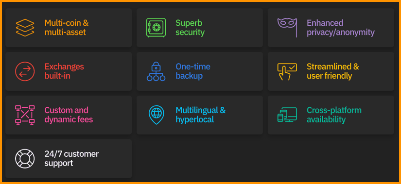 Features of Coinomi Wallet