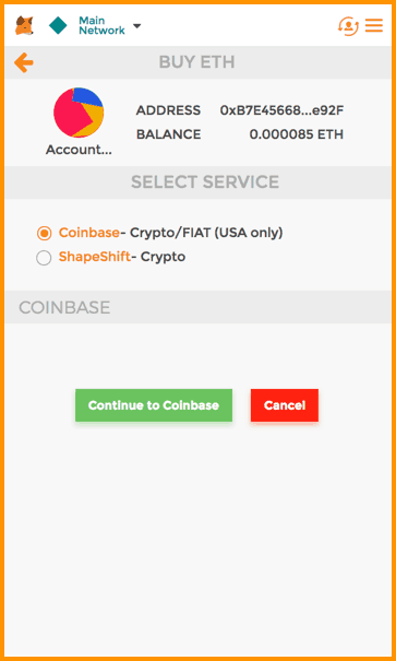 MetaMask Built-in Exchange
