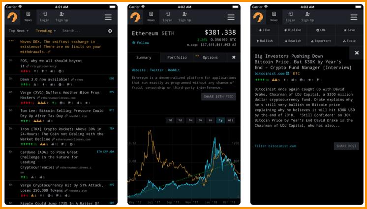 CryptoPanic iOS App