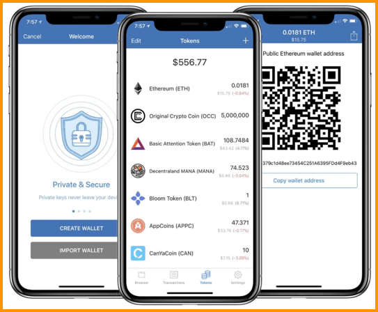 Trust Wallet UI