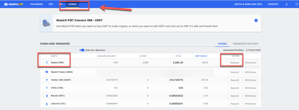 bitcoin kaina inr
