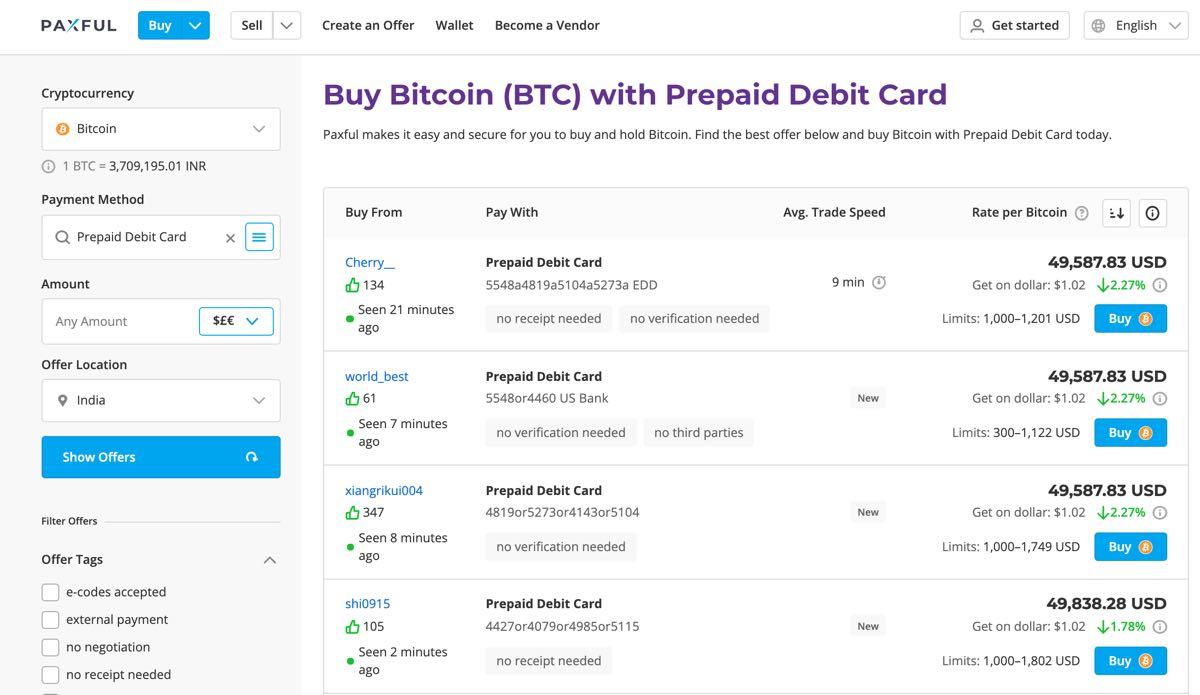 circle bitcoin prepaid visa)