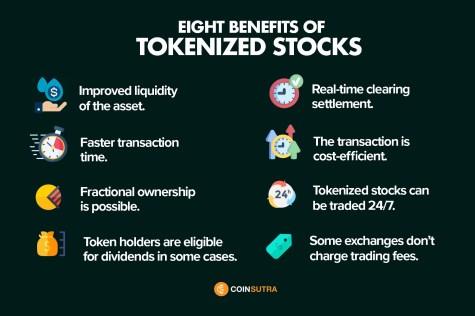 Benefits of tokenized tokens