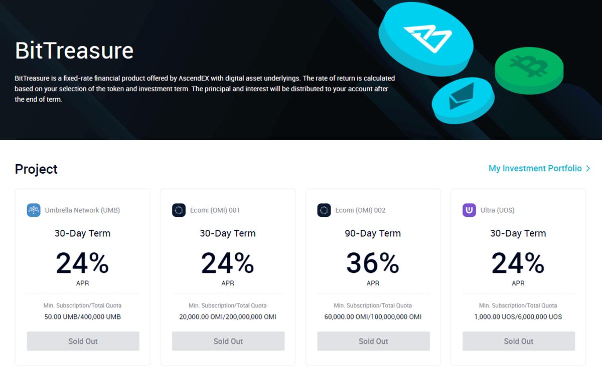 AscendEX BitTreasure