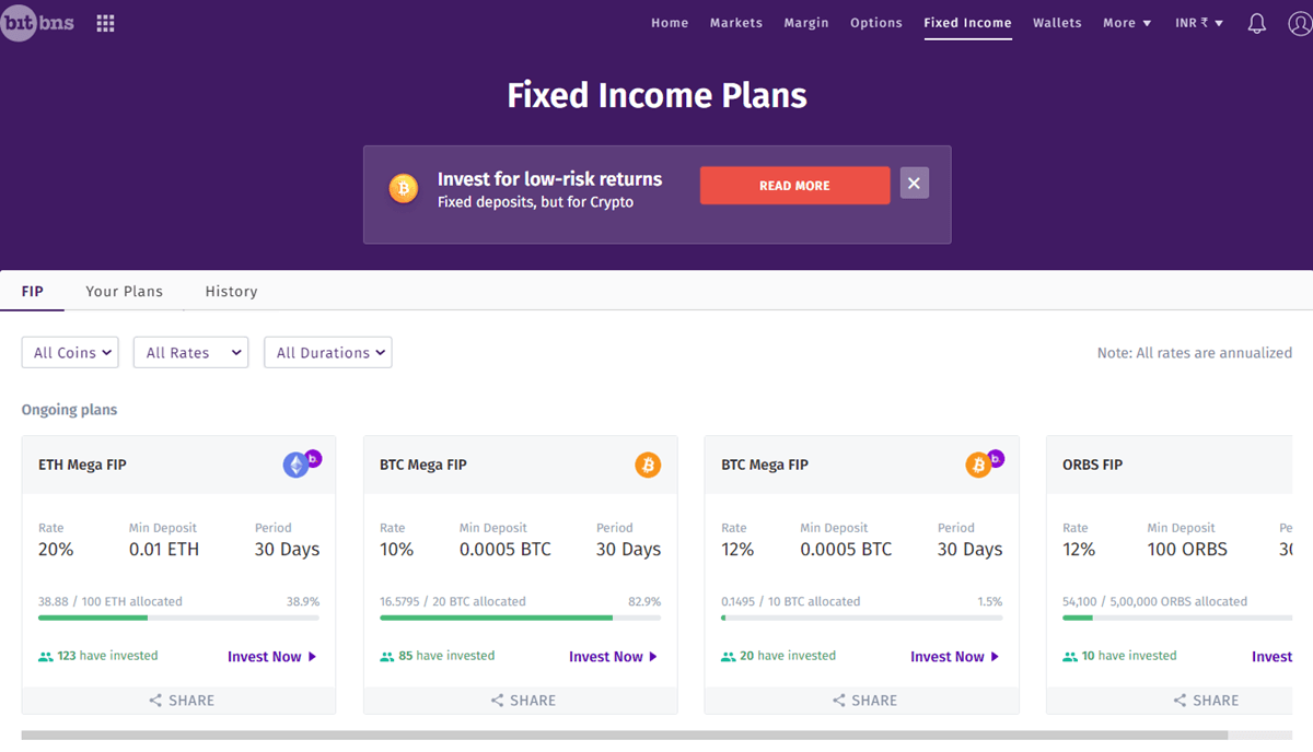 Bitbns Fixed Income Plan
