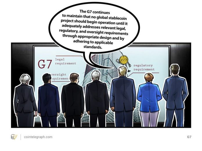 G7 issues warning to stablecoins