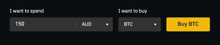 Choose AUD Currency on Binance