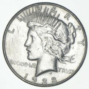 1923 Silver Peace Dollar (S)