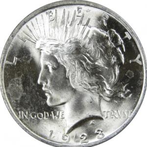 1923 Silver Peace Dollar Values