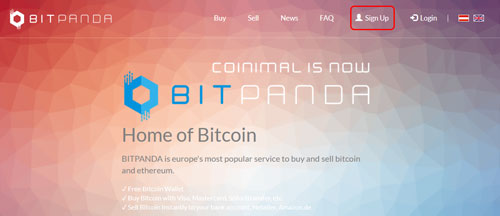 bitpanda sign up