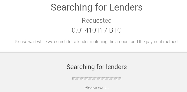 searching for lenders