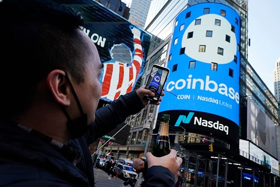What is the outlook for Coinbase in the third quarter when the stock price is back to the starting point?