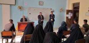 لقاء عميد كلية العلوم الاسلامية بالطلبة الجدد