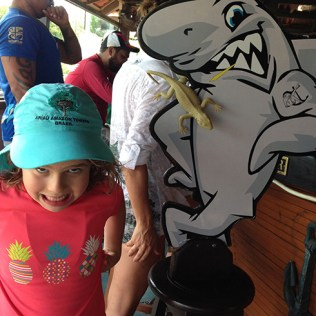 Olha o Lagarto e o Tubarão!