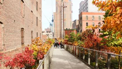 High Line parque suspenso de Nova York