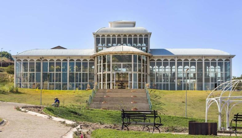 Edifício principal do Jardim Botânico de Sorocaba