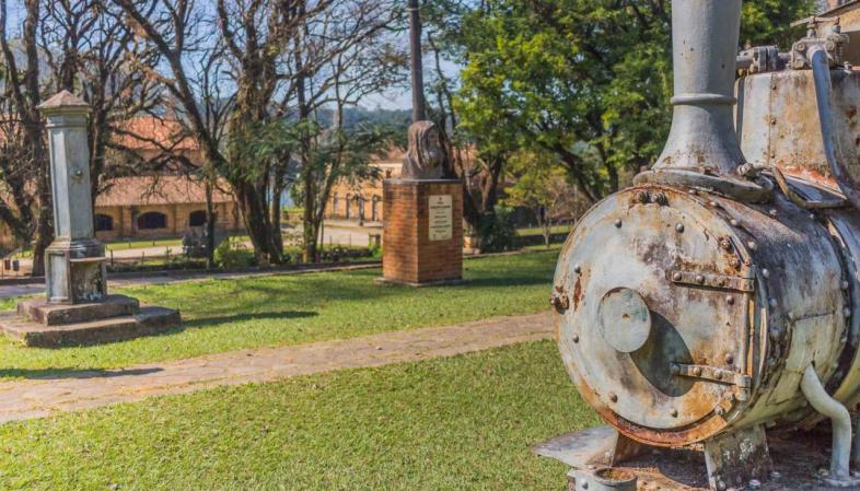 Início do passeio pela Fazenda Ipanema, berço da metalurgia no Brasil