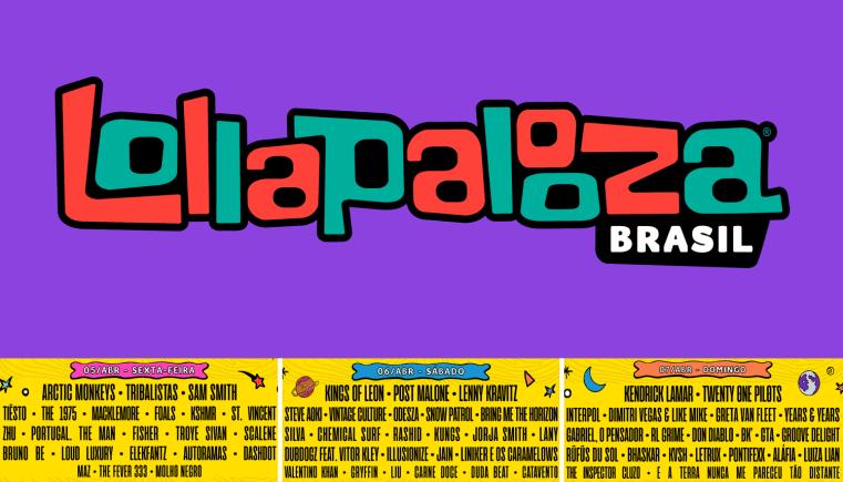 Lollapalooza Brasil 2019 já anunciou o line-up