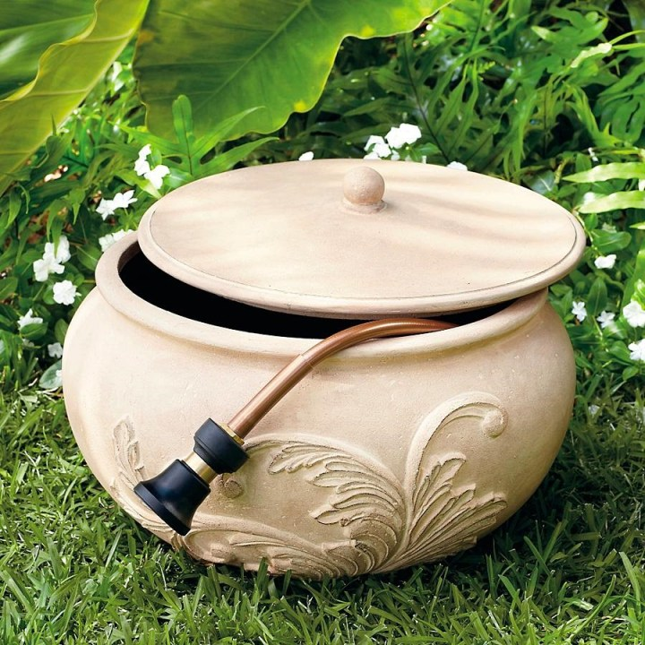 Garden Hose Storage Pot