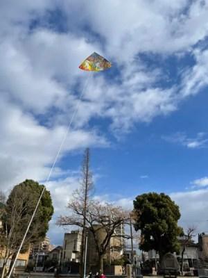 息子と人生初の凧揚げしてみた