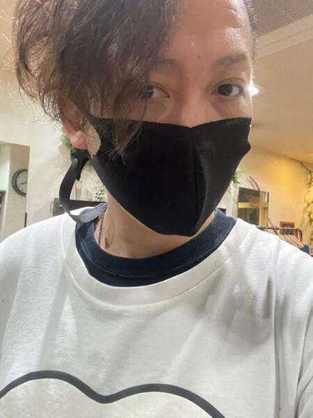 マスクをつけてたら……鼻が黒く…