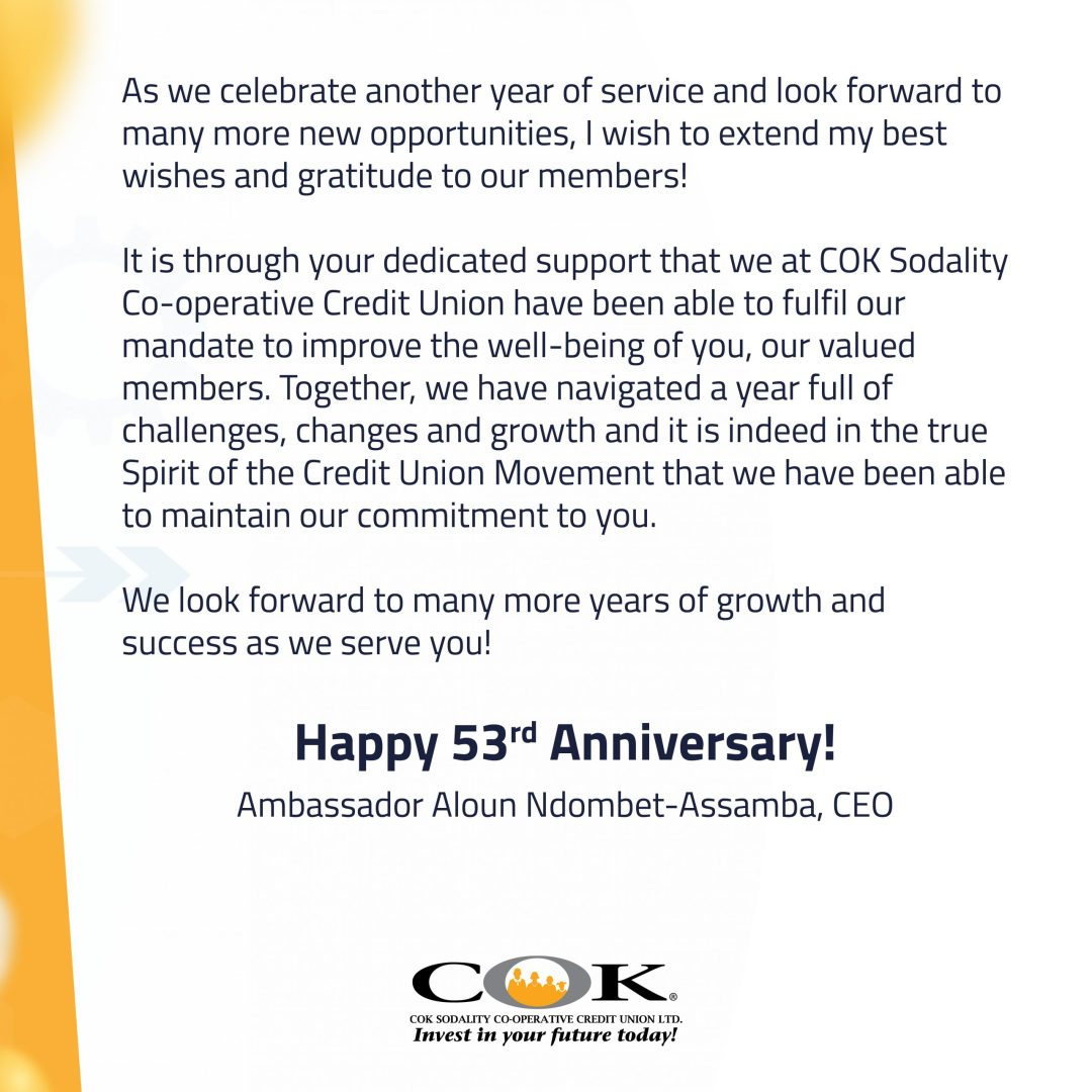 CEO's Message COK