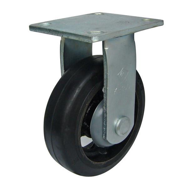 bánh xe Càng K cố định, bánh xe cao su lõi gang