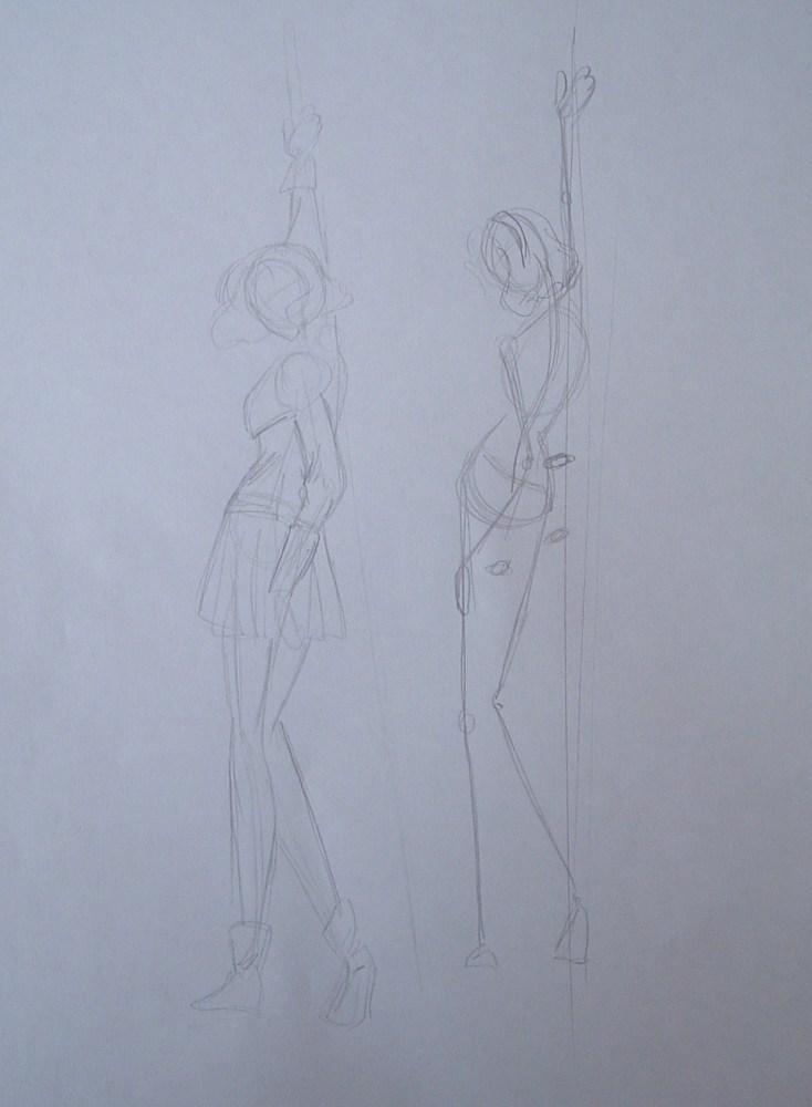 Figura de Fuu (Magic Knight Rayearth) en pasta de modelar. (3/6)
