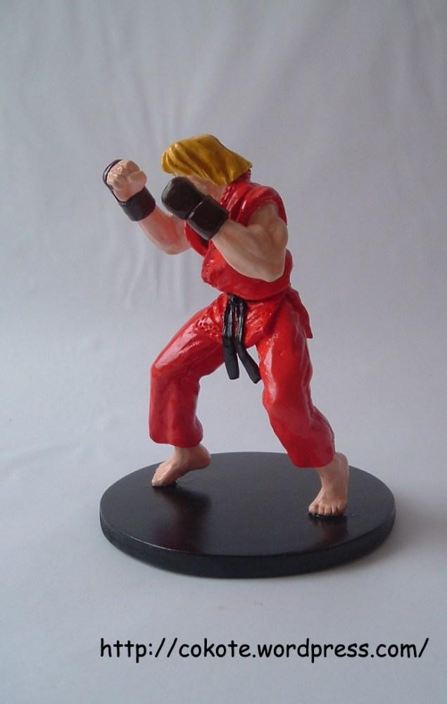 Ken de Street Fighter 2, figura de pasta para modelar das (3/5)