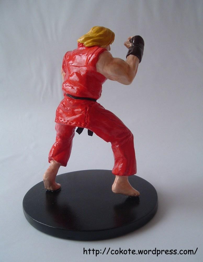 Ken de Street Fighter 2, figura de pasta para modelar das (4/5)