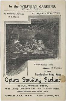 brochure; pamphlet - Opium Smoking Parlour