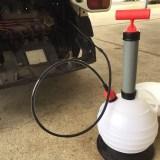 車のオイル交換DIY。上から抜く装置で15分交換♪