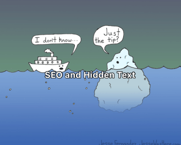 seo and hidden text