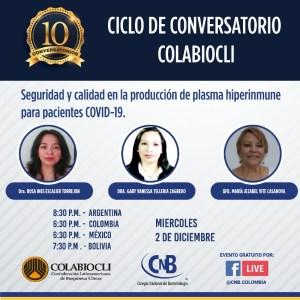 Conversatorio Nº 10 - Seguridad y calidad en la producción de plasma hiperinmune para pacientes COVID-19