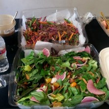 Soba noodles and garden salad provided by Tim the Girl at the Empire Theater. (Not pictured: delicious sandwiches.)