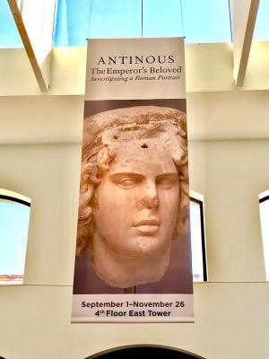 Antinous exhibit banner