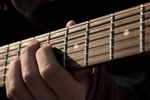 Posición de acorde en una guitarra