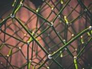 Cuerdas de color verde enlazadas en múltiples perspectivas.