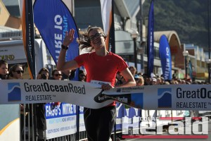 Ballarat's Tracie Kaye took out the women's section of the Great Ocean Road Marathon.