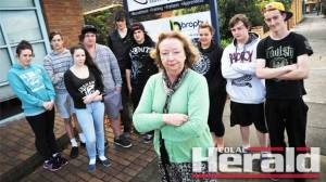 Colac's Youth Connections case worker Kathryn Johns, front, pictured with clients, says the program will close in December after missing out on federal funding.