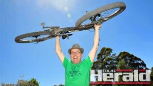 Forrest Festival organiser Norm Douglas expects 350 cyclists for this weekend's mountain bike event.