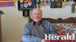 Champion Colac shooter Keith Hay has turned 90. He is  pictured with a selection of his shooting awards and medals.