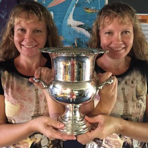 Queensland's Paula and Bridgette Powers will bring the late Cliff Young's Westfield Sydney-to-Melbourne Ultramarathon cup to Colac next week and it will be on permanent display at the Colac History Centre.