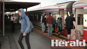 Colac trains have been overcrowded during school holidays.