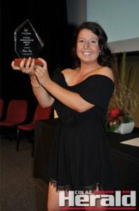 Hana Day won the 2015 Colac Otway Shire Young Ambassador Award on Friday night.