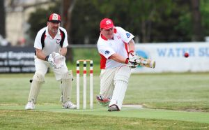 Gun Apollo Bay recruit Dale Boyd, pictured, went on to top-score for the Sharks with 40 runs after he was dropped on naught.