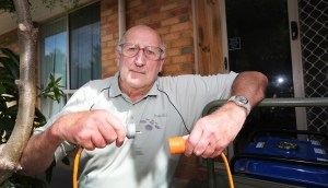 CUT OFF: Barongarook resident Allen Biggins is disappointed with Powercor turning power off in the region on a total fire ban day.