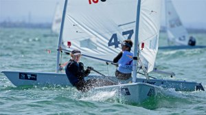Apollo Bay's Morgan Stewart, 16, sailed on Sydney Harbour as part of the 2016 Australia Youth Laser Sailing Championships. Photo Supplied.