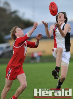 Alvie's Keenan Hickey and Birregurra's Nick Arnold are among 43 footballers who earned selection in the Colac district league's initial under-18 interleague team,