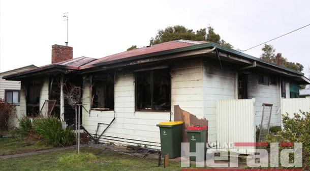 Two residents escape burning Colac house